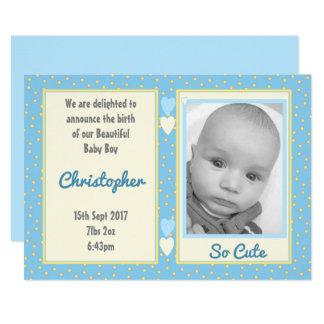 Personnalisé merci photo de bébé carton d'invitation  12,7 cm x 17,78 cm
