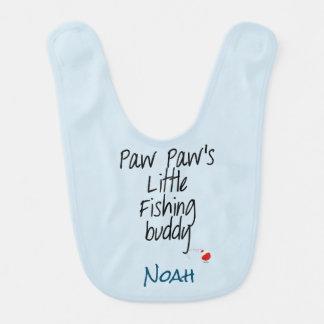 Personnaliser de bavoir de bébé d'ami de la pêche