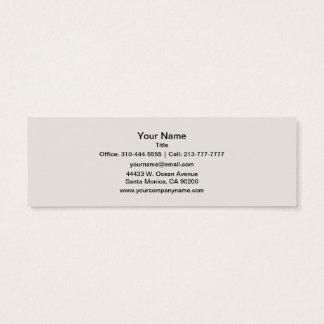 Personnaliser de couleur solide d'albâtre il mini carte de visite