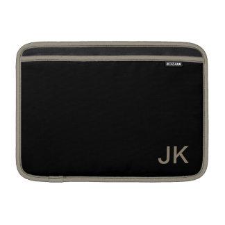 Personnaliser simplement noire de couleur solide housse macbook air