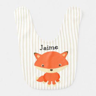 Personnalisez ce bavoir de bébé de Fox de créature