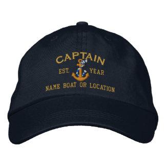 Personnalisez facilement ce capitaine Rope Anchor Casquettes Brodées