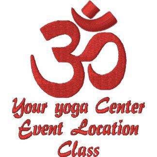 Personnalisez la broderie de yoga de spiritualité polo