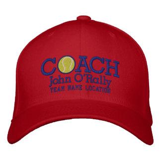 Personnalisez le casquette d'entraîneur de tennis casquette de baseball brodée