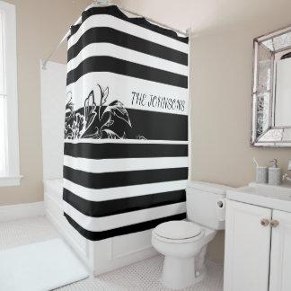 Personnalisez le rideau en douche noir de