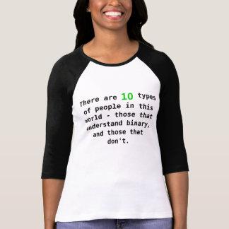 personnes binaires t-shirt