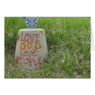 Personnes inspirées de Dieu d'amour de graffiti Carte
