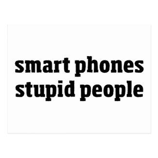 Personnes stupides de téléphones de Smart Carte Postale