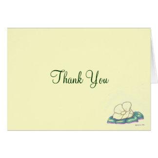 Persoonlijk of Zaken dank u kaarden met Bloem Kaart