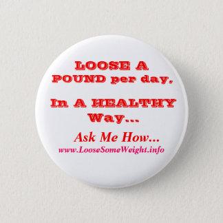 Perte de poids badge rond 5 cm