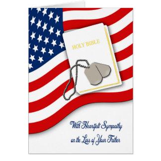 Perte militaire de carte de sympathie de père