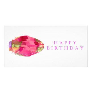Pétale en cristal de RedRose PinkRose de joyeux an Photocarte