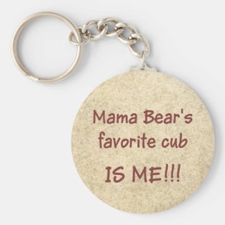 Petit animal préféré de maman Bear's Porte-clés