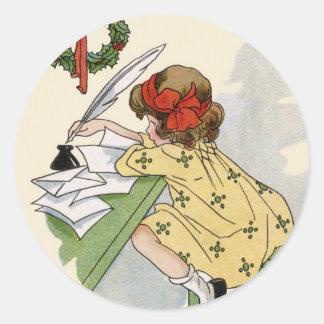 Petit autocollant de Noël d'auteur