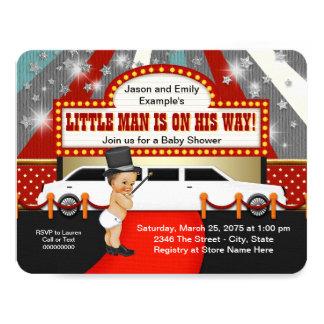 Petit baby shower de star de cinéma de limousine carton d'invitation 10,79 cm x 13,97 cm