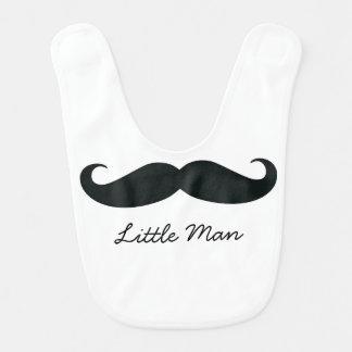 Petit bavoir de bébé de moustache d'homme