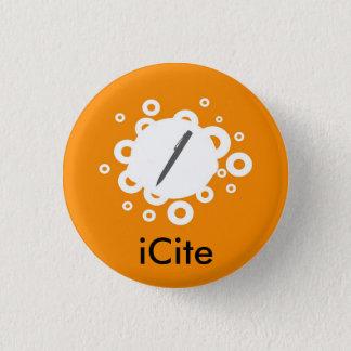 Petit bouton d'iCite orange de sifflement Badge Rond 2,50 Cm
