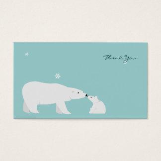 Petit carte de remerciements : Ours blanc