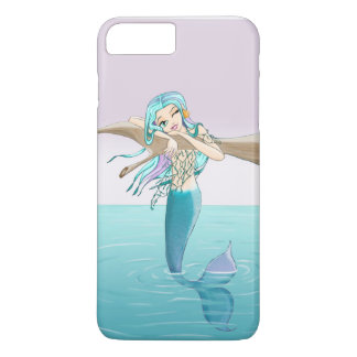 Petit cas de téléphone de sirène coque iPhone 8 plus/7 plus