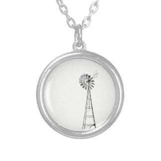 petit collier rond de moulin à vent minuscule