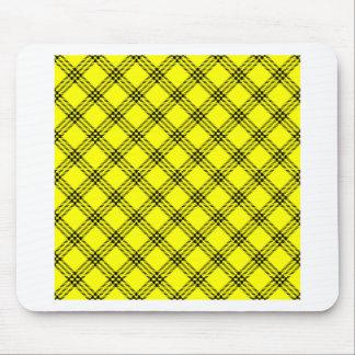 Tapis de souris jaune et noir Petit tapis jaune