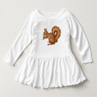 Petit écureuil robe manches longues