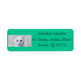 Petit étiquette de adresse blanc de Kitty Étiquette D'adresse Retour