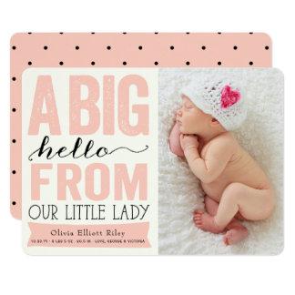 Petit faire-part de naissance de Madame bébé de