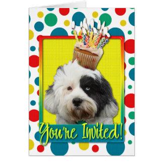 Petit gâteau d'invitation - Terrier tibétain Carte