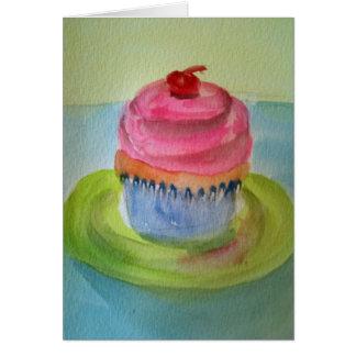 Petit gâteau d'un plat carte