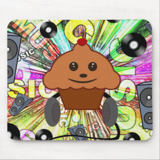Petit gâteau et musique tapis de souris