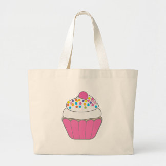 Petit gâteau rose grand tote bag