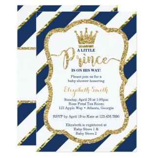 Petit invitation de prince baby shower,