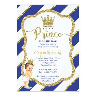 Petit invitation de prince baby shower, parties