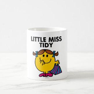 Petit lettrage noir de Mlle Tidy   Mug Blanc