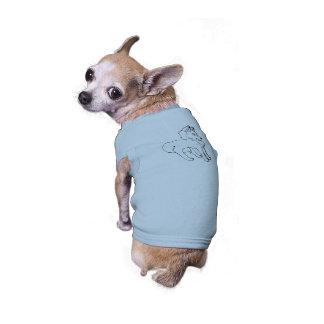 Petit loup vêtements pour chien
