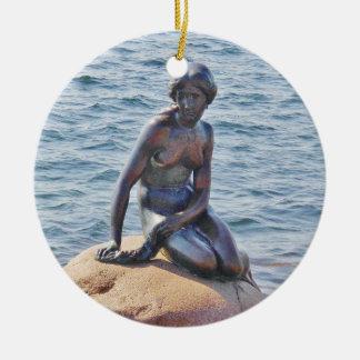 Petit ornement de cercle de Copenhague de sirène