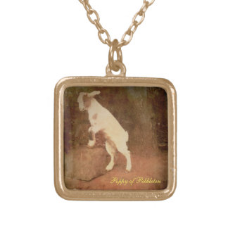 Petit pendentif de finition d'or ; Pavot de chèvre