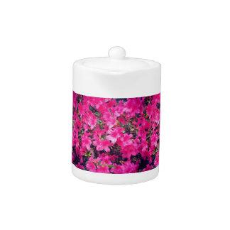 Petit pot floral rose de thé