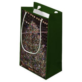 Petit Sac Cadeau Arbre de Noël central de New York City Rockefeller