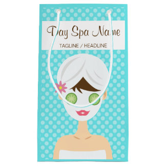 Petit Sac Cadeau Baigner la femme avec un spa de jour de masque