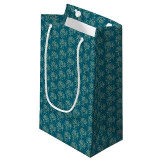 Petit Sac Cadeau Beige floral de Mini-copie de style ethnique sur