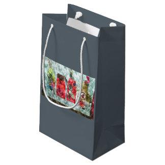 Petit Sac Cadeau Cadeau gris de Valentine de médias mélangés de