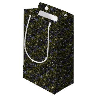Petit Sac Cadeau Correction de fleur du muguet avec la teinte bleue