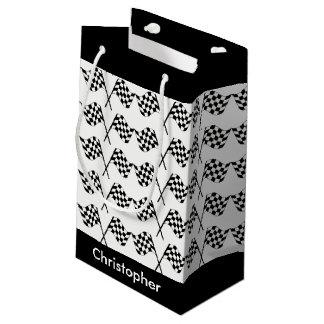 Petit Sac Cadeau Emballage Checkered de drapeaux personnalisé