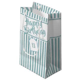 Petit Sac Cadeau L'Aqua minimaliste/blanc barre le joyeux