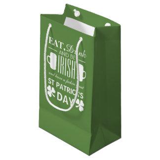 Petit Sac Cadeau Le jour de St Patrick d'Irlandais de shamrock et