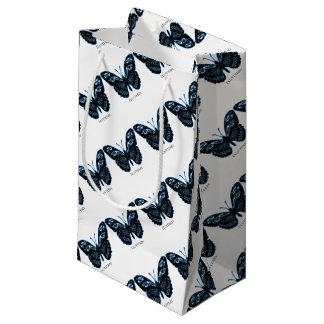 Petit Sac Cadeau Lueur bleue noire de Flutterby