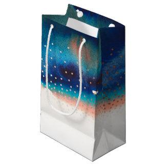 Petit Sac Cadeau Mariage moderne d'aquarelle de turquoise et de