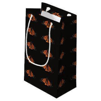 Petit Sac Cadeau Monarque dans la clé de l'orange et du noir